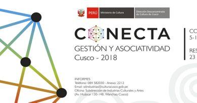 """27 PARTICIPANTES DEL ENCUENTRO """"CONECTA, GESTIÓN Y ASOCIATIVIDAD"""" RECIBIRÁN APOYO DE CULTURA CUSCO"""